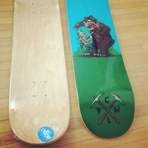 Image of Bear vs Man Skateboard Deck