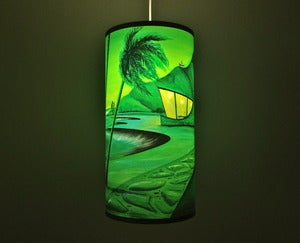 Image of Green Pendant Tiki Lamp by Dawn Frasier