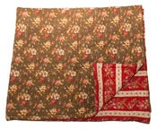 Image of French Provencal throw - Red & Green