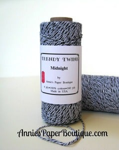 Image of Midnight Trendy Twine {Black, White, & Gray Bakers Twine}