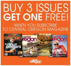 Image of Central Oregon Magazine 1 year Subscription
