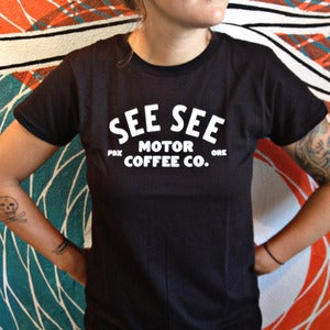 Image of Ladies Motor Coffee Tee
