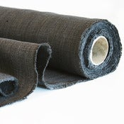 Image of plain charcoal linen