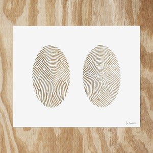 Image of Double Fingerprint {No Text} Paper Cutting