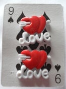 Image of Rockabilly Kitsch Retro LOVE Earrings with Heart and Arrow Detail