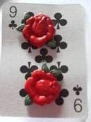 Image of Rockabilly Tattoo Kitsch Red Rose Flower Earrings