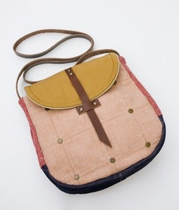 Image of -S O L D- the perfect crossbody (quilted cherry blossom with studs)