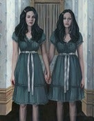 Image of Forever and Ever and Ever FRAMED Original Painting The Shining