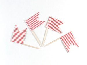 Image of Stripe Pennant Flags