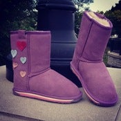 Image of EMU little girl boots..with hearts