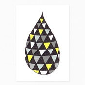 Image of Monochrome/Yellow Drop Postcard