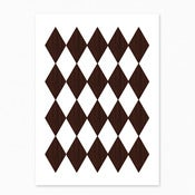 Image of  Wooden Harlequin Postcard