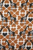 Image of Caramel Giraffe Organic Interlock (by the half metre)