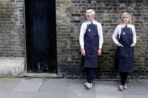 Image of The Mercantile Apron, Selvage denim, inspired by 1950's shopkeepers workwear, Made in Great Britain.