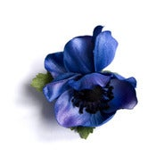 Image of Anemone Floral Clip - Indigo