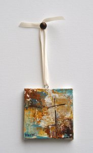 "Image of Original art by Melissa Payne Baker - 3""x3"" Itty Bitty Cross II"