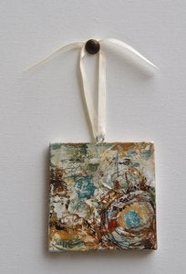 Image of Original art by Melissa Payne Baker - 3&quot;x3&quot; Itty Bitty Nest I