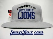 Image of Vintage Deadstock Detroit Lions Property of Detroit Lions New Era Snapback hat cap