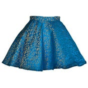 Image of Midas Jacquard Turquoise Full Circle Party skirt