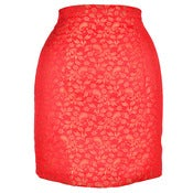 Image of Red Midas Pencil Skirt