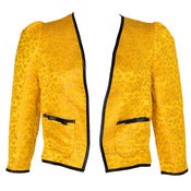 Image of 40% OFF! Yellow Midas Jacquard Crop Jacket