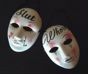 Image of Slut Whore ceramic masks