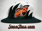 Image of Vintage Deadstock Seattle Supersonics Sharktooth Logo 7 Snapback hat cap