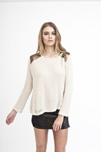 Cream and Gold Jumper
