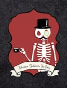 "Image of PreOrder ""Mr Skeleton's tea party"" Postcard"