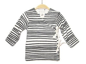 Image of Baby Wrap Deep Black Stripes
