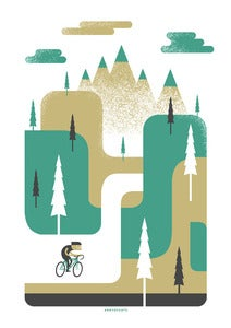 Image of 'Ride to the Hills' - silkscreen print *FREE POSTAGE*