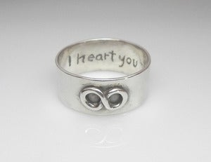 Image of Wide Band Infinity Ring in Sterling Silver