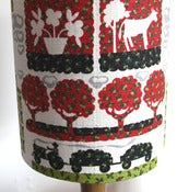 Image of *LAST ONE* Orchard barkcloth table lampshade