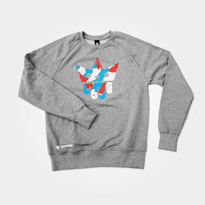 Image of Broken | Sweatshirt Grey Melange