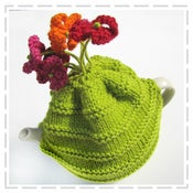 Image of Flower Tea Cosy Kit (including knitting needles)