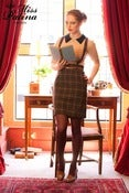 Image of Embrace Me Tartan Skirt (brown)