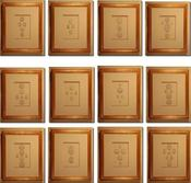 Image of Framed intaglios, set of 12