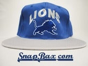 Image of Vintage Deadstock Detroit Lions Blue and Silver Snapback hat cap