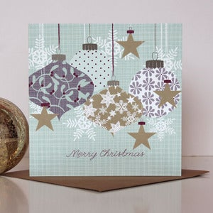 Image of Hanging Baubles Christmas Card