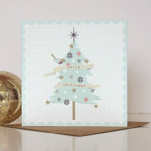 Image of Christmas Tree And Bird Card