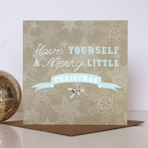 Image of 'Merry Little Christmas' Typographic Card