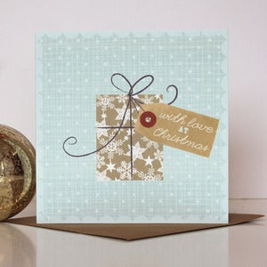 Image of Christmas Parcel and Tag Card