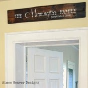 Image of Personalized Family Established Sign (rustic)