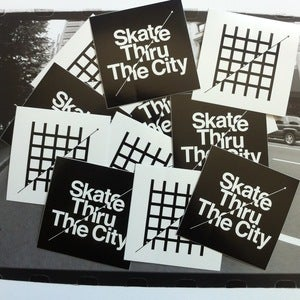 "Image of Skate Thru The City Stickers 2"" x 2"""