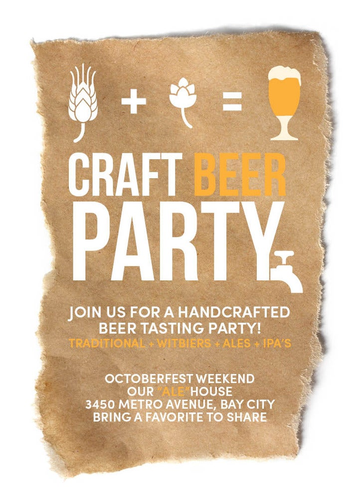 Small Moments Craft Beer Invitation Octoberfest