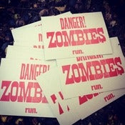 Image of Danger! Zombies Run. Poster