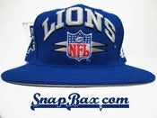 Image of Deadstock Vintage Detroit Lions Logo Athletic Blue Diamond Snapback Hat Cap