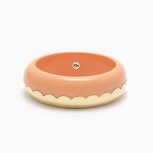 Image of Donut Bangle | Milky Peach + Golden