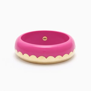 Image of Donut Bangle | Neon Fuchsia + Golden