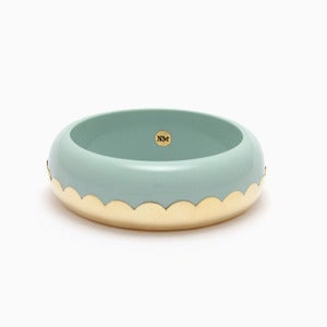 Image of Donut Bangle | Mint + Golden